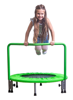 PLENY 36-Inch Kids Mini Trampoline with Handle