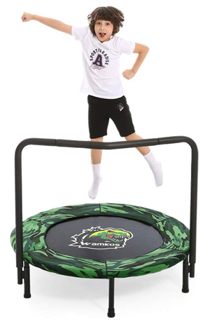 Dinosaur Camo Kids Trampoline with Handle