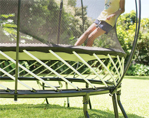 square trampoline without springs