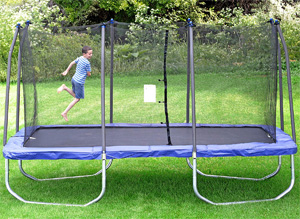 Skywalker Trampolines Rectangle Trampoline with Enclosure Net